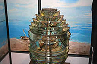 close up of fresnel lens in tower