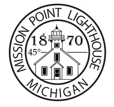 Mission Point Lighthouse stamp - 1870, 45th parallel